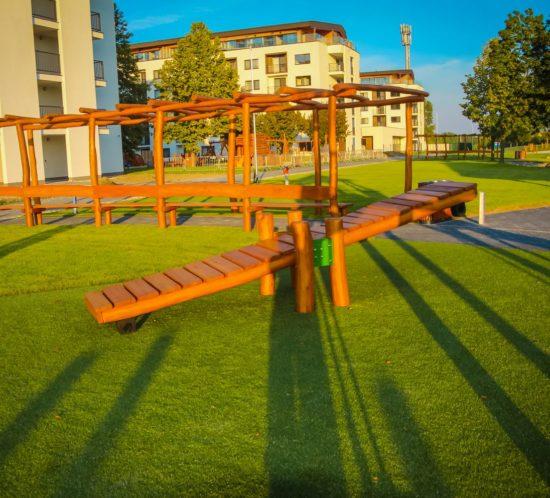 Balančný most - fitness prvky na cvičenie