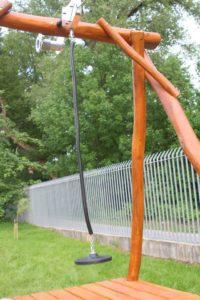 Drevená lanovka pre deti