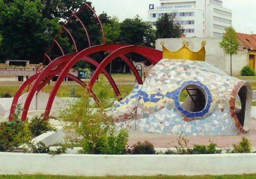 Detské ihrisko z betónu - Zlatá rybka Levice