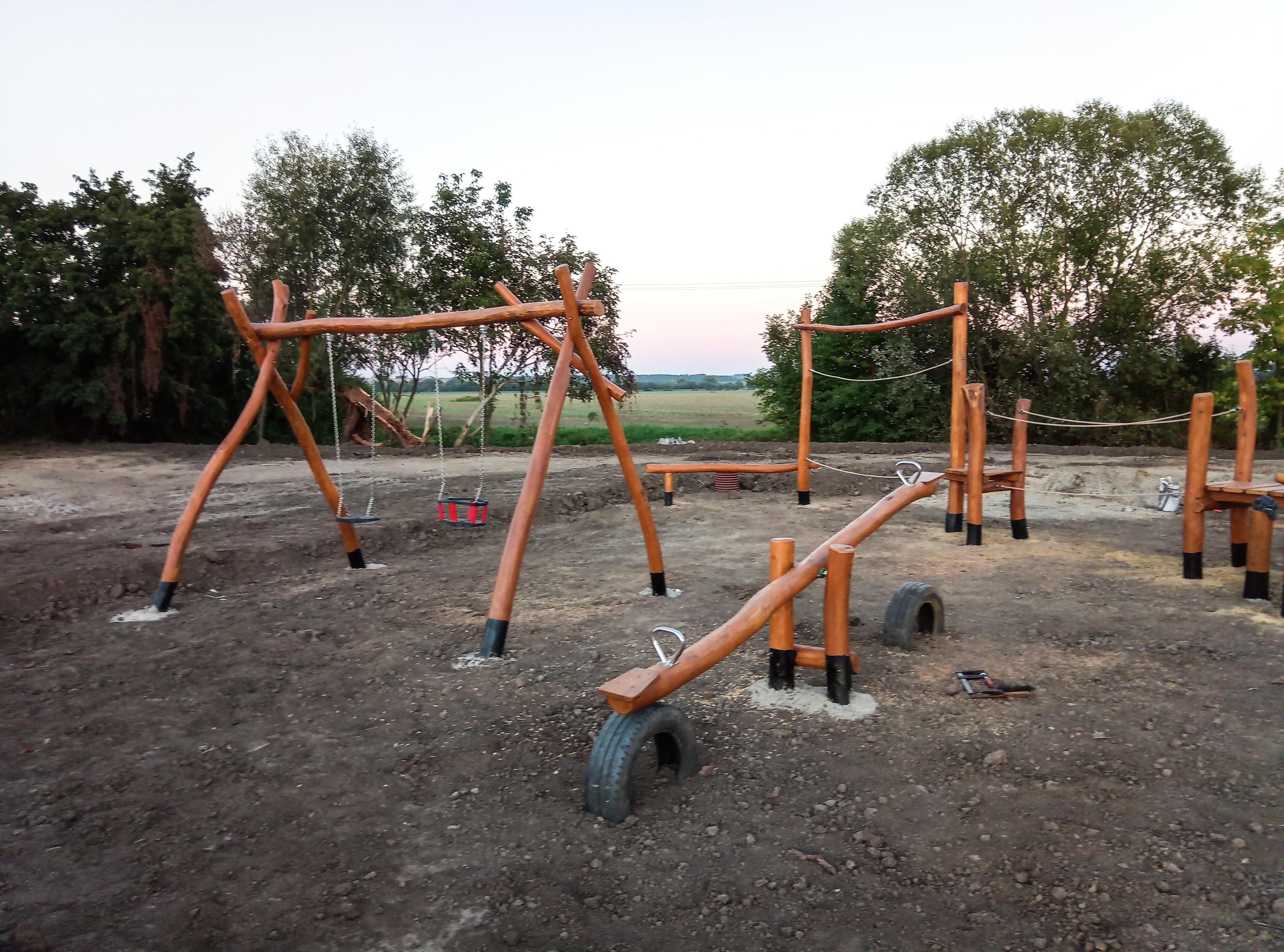 drevené ihrisko pre deti