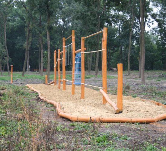 Lanové prvky na cvičenie - Detské ihrisko Veľký Meder