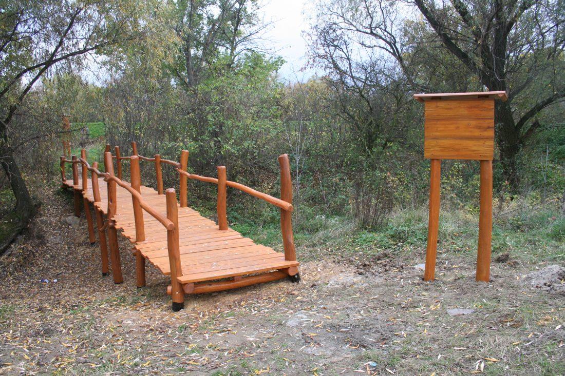 Drevený most, Jelšovce