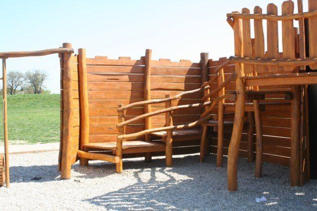 Detské ihrisko z dreva, Hradisko Lienka, Nové Zámky