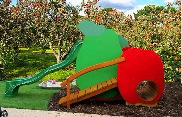 Šmykľavka Jablko a hruška s tunelom