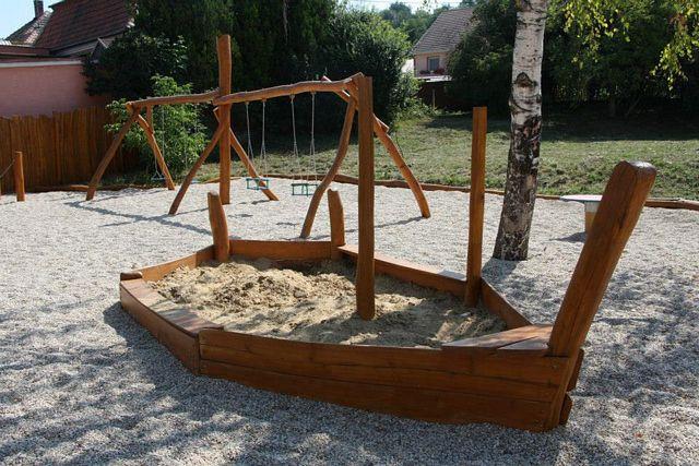 Hracie prvky na detské ihriská - Pieskovisko Záchranný čln