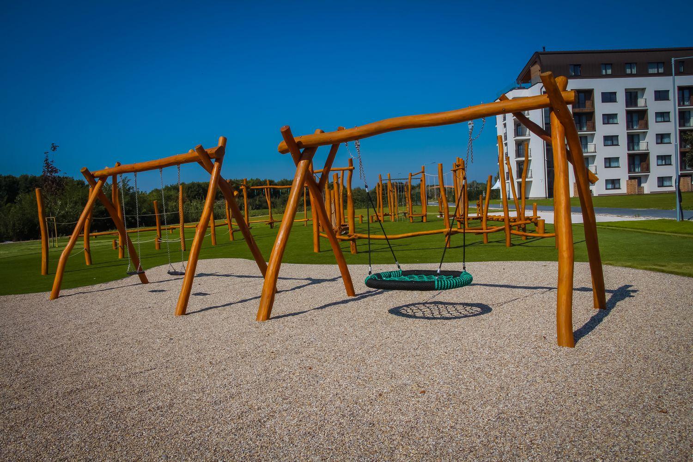 Hojdačka Hniezdo - závesná hojdačka - hracie prvky na detské ihriská