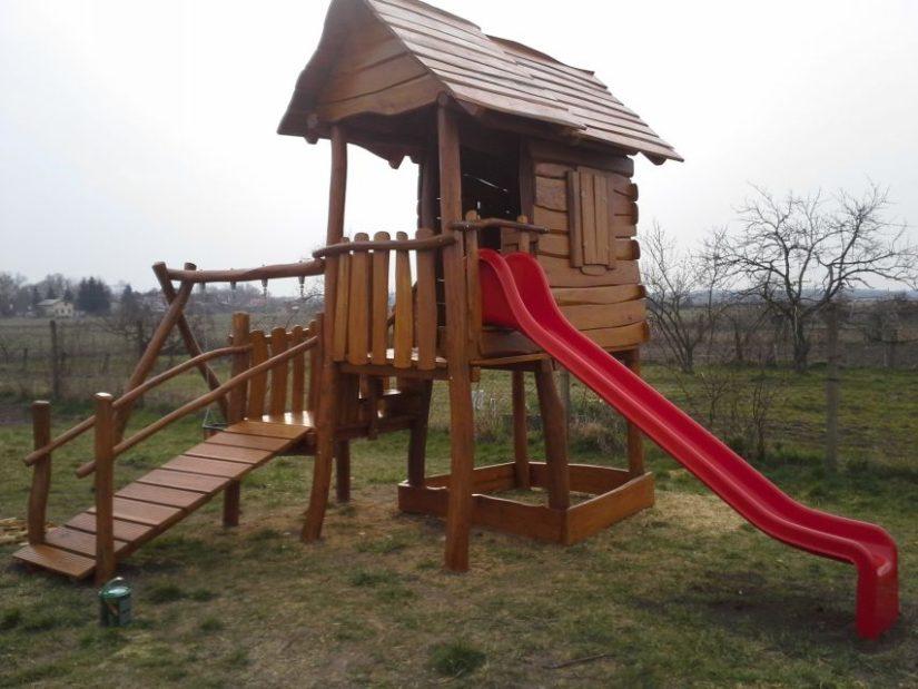 Detské ihrisko do záhrady s domčekom