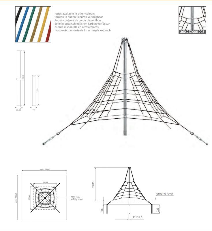 Lanová pyramída KBT011B