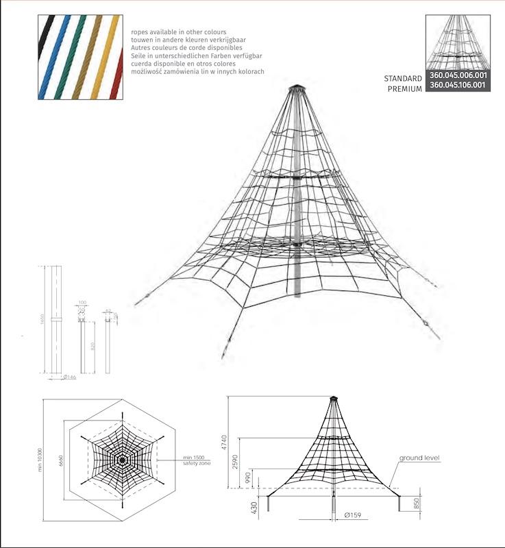 Lanová pyramída KBT011D