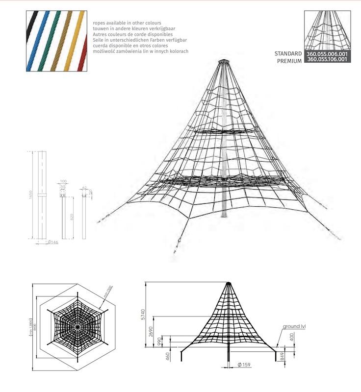 Lanová pyramída KBT011F